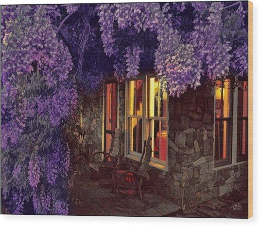 Beneath The Wisteria Wood Print by Douglas MooreZart