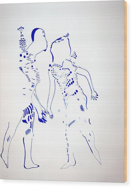 Dinka Courtship - South Sudan Wood Print