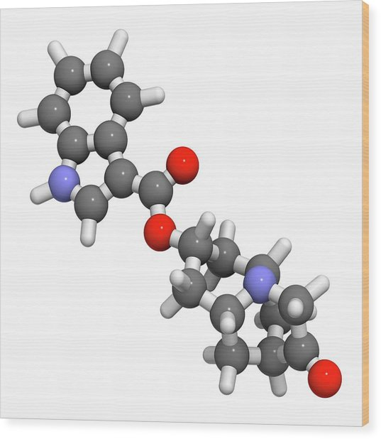 Dolasetron Nausea Drug Molecule Wood Print by Molekuul