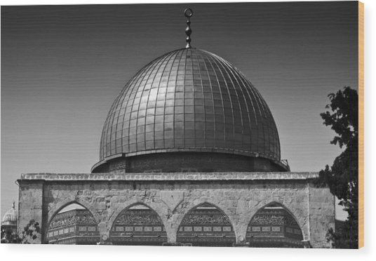Dome Of The Rock Wood Print by Amr Miqdadi