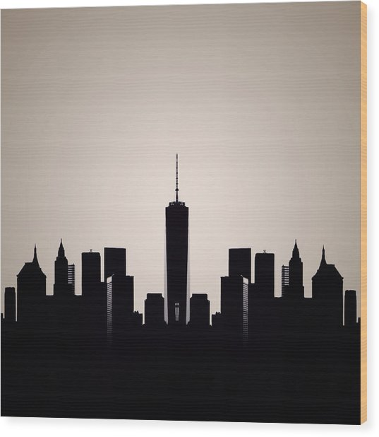 Downtown Deco Wood Print
