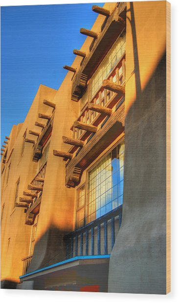 Downtown Santa Fe Wood Print