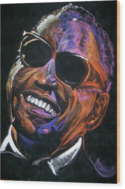 electric Ray Charles Wood Print