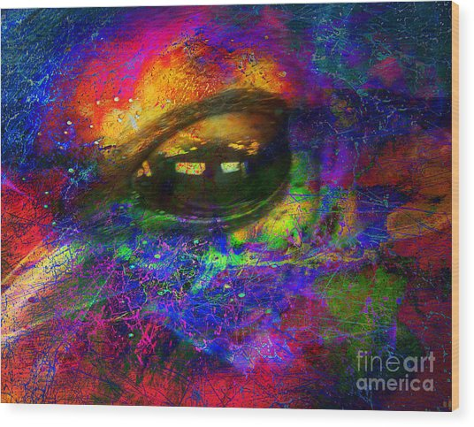 Eye Of Universe Wood Print by Irina Hays