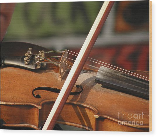 Fiddle Time Wood Print