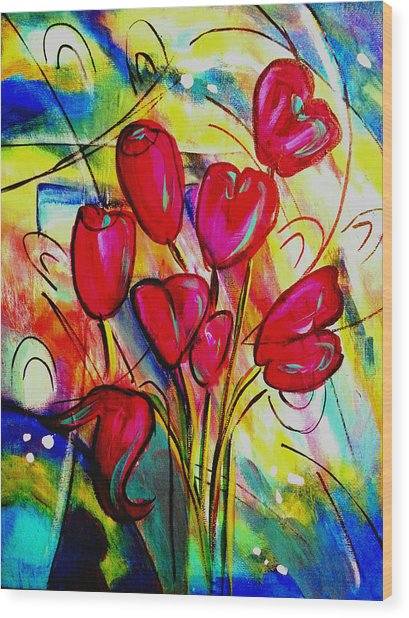 Flowers For M Wood Print