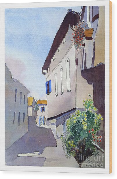 French Street Wood Print