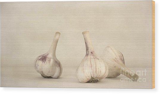 Fresh Garlic Wood Print