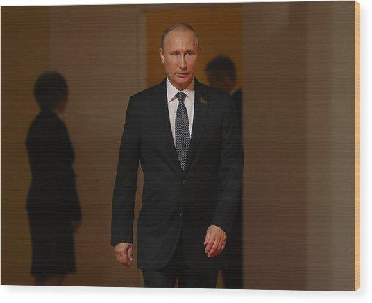 G20 Nations Hold Hamburg Summit Wood Print by Sean Gallup