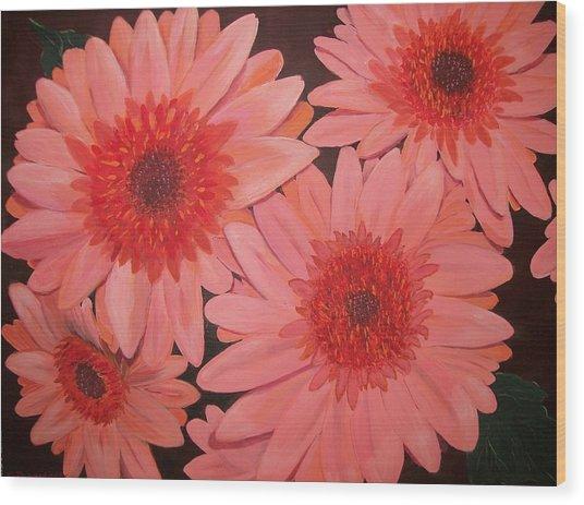 Gerber Daisies Wood Print