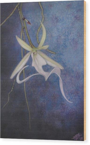 Ghost Orchid II Wood Print
