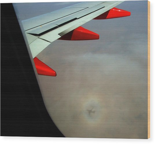 Ghost Plane Wood Print