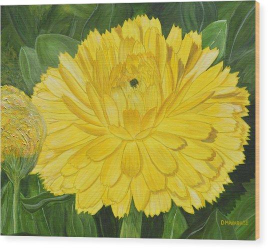 Golden Punch Wood Print