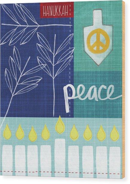 Hanukkah Peace Wood Print