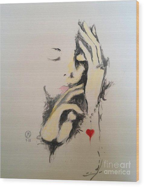 Heart Bracelet Wood Print