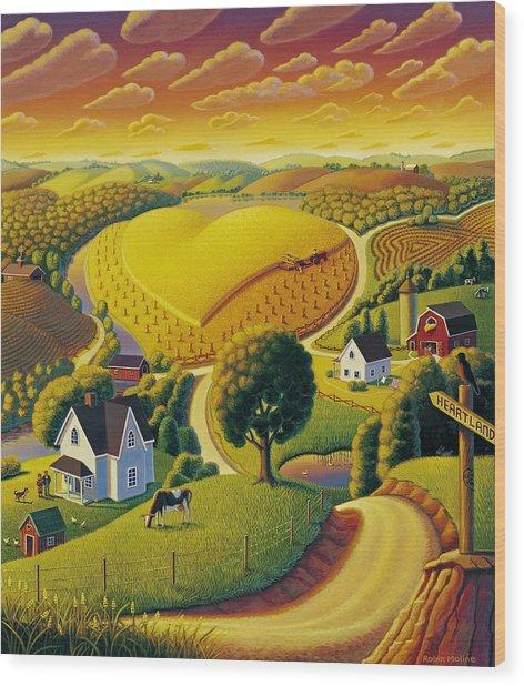 Heartland  Wood Print