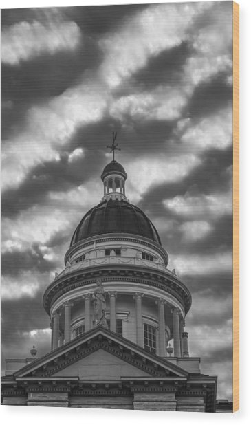 Wood Print featuring the photograph Historic Auburn Courthouse by Sherri Meyer