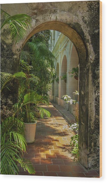 Historic Santuario And Iglesia De San Wood Print by Jerry Ginsberg