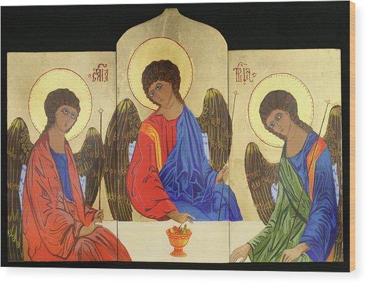 Holy Trinity Wood Print by Amy Reisland-Speer