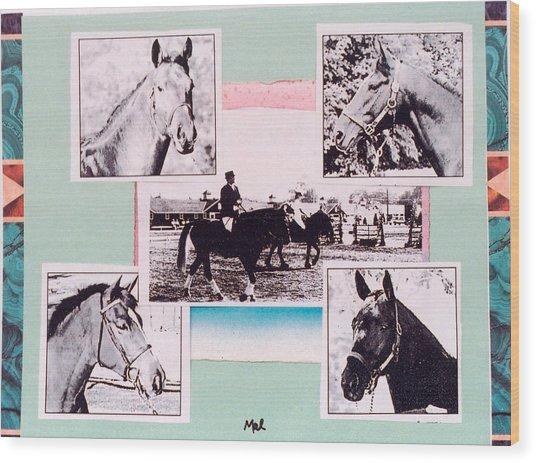 Horse And Rider C Wood Print