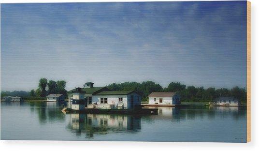 Horseshoe Pond Wood Print