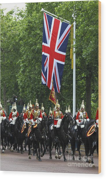 Household Cavalry Life Guards Wood Print