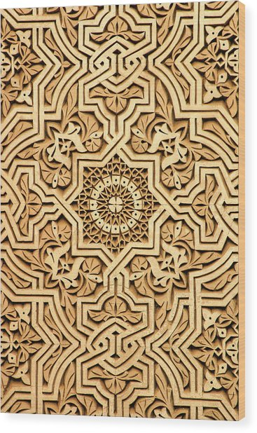 Islamic Plasterwork Wood Print by PIXELS  XPOSED Ralph A Ledergerber Photography
