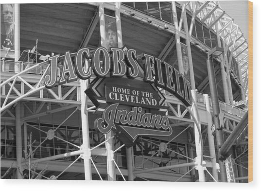 Jacobs Field - Cleveland Indians Wood Print