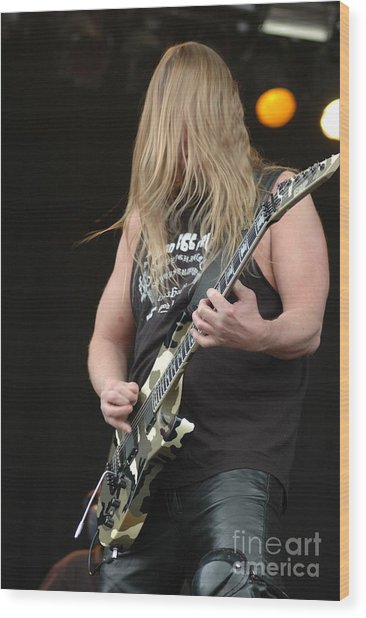 Jeff Hanneman From Slayer Wood Print