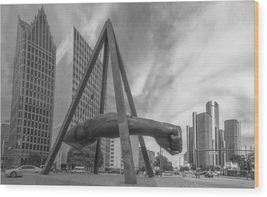 Joe Louis Fist In Detroit  Wood Print
