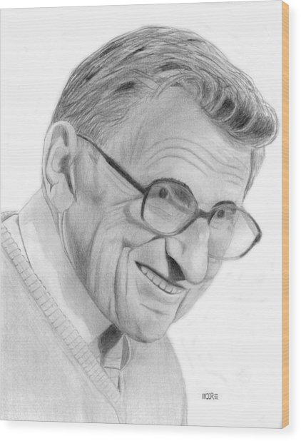 Joe Paterno Wood Print