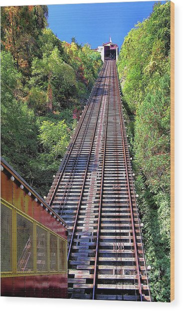 Johnstown Incline Wood Print