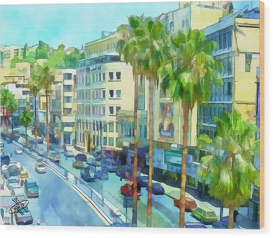 Jordan/amman/downtown Wood Print
