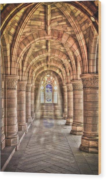 Kelso Abbey Wood Print
