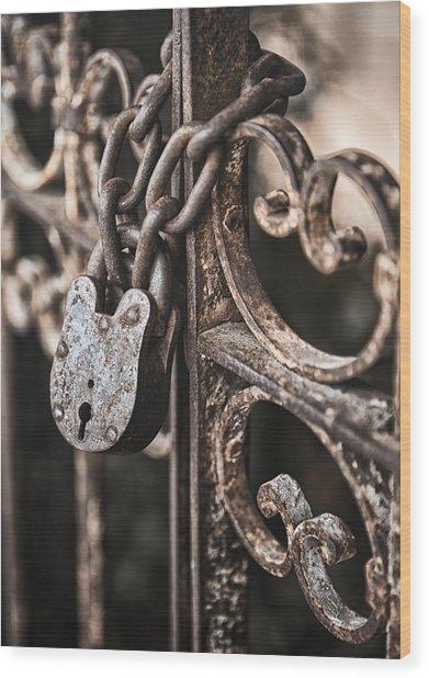 Keyless Wood Print