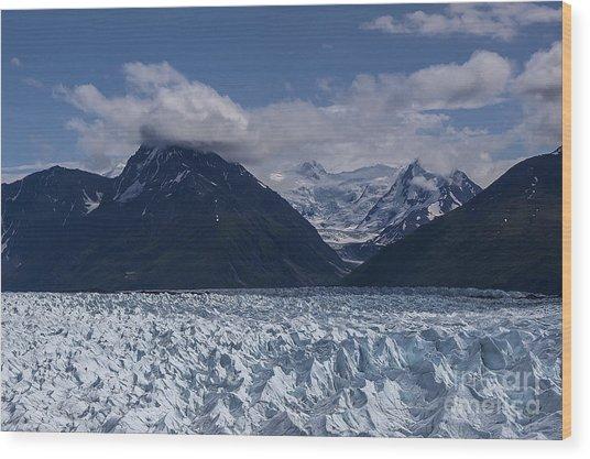 Knik Glacier Alaska Wood Print
