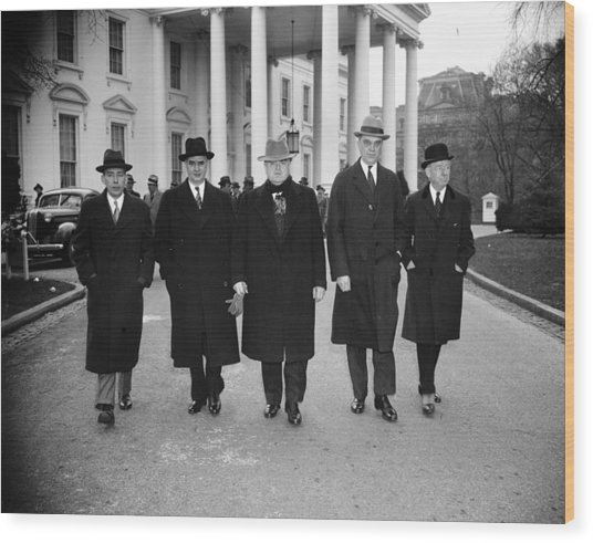 Labor Leaders, 1938 Wood Print by Granger