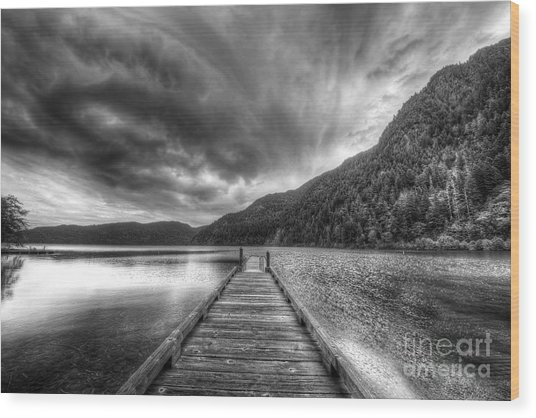 Lake Crescent In Olympic National Park Wood Print