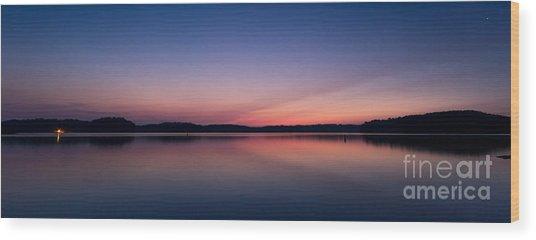 Lake Lanier After Sunset Wood Print