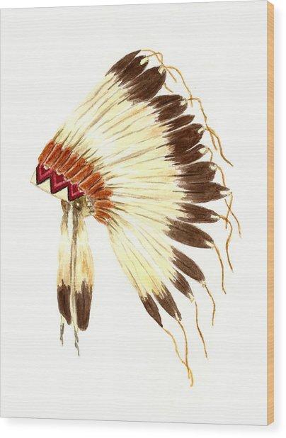 Lakota Headdress Wood Print