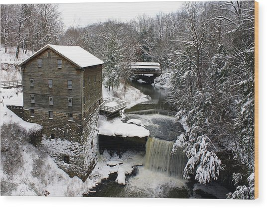 Lantermans Mill Wood Print