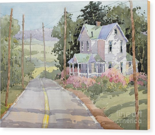 Laurel Mountain Highlands Farm Wood Print