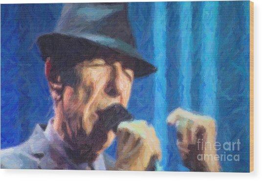 Leonard Cohen In Concert 2013 Wood Print