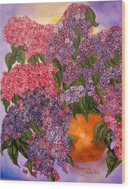 Lilacs Galore Wood Print