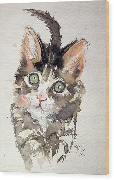 Little Cat Wood Print