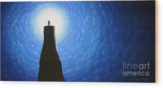 Love Will Show You The Light Wood Print by Chris Mackie