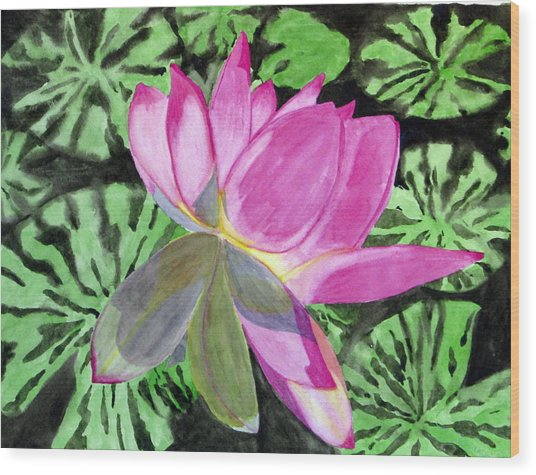 Lovely Lily Wood Print