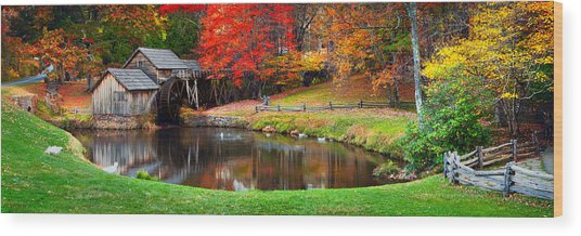Mabry Mill Pano Wood Print