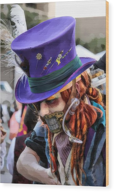 Mad Hatter Wood Print by James Stough