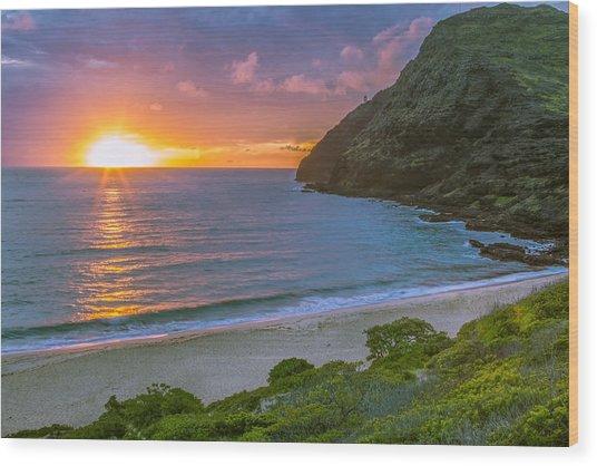 Makapuu Sunrise 1 Wood Print